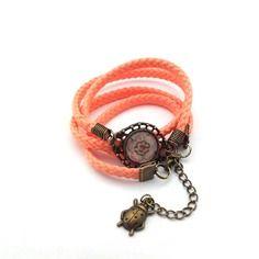 Bracelet cabochon saumoné