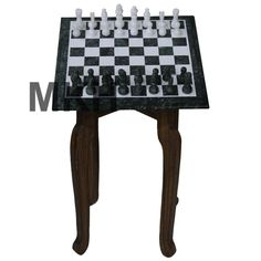 Occasional Table Other Inlaid Chess Or Games Board Set On Legs
