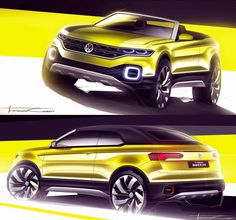 2016 VW T-Cross Breeze Concept Sketches by Thiago Carfi