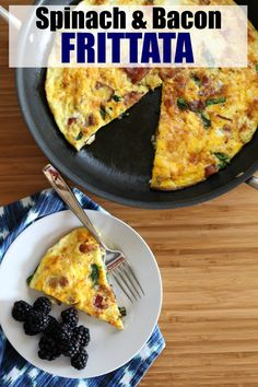 Looking for frittata recipes? This Bacon and Spinach Frittata is perfect for breakfast, lunch or dinner. With ingredients like bacon, fresh spinach and onion, it's full of flavor and a complete meal. Just add some fresh fruit and you're good to go! #JimmyDeanBacon #ad