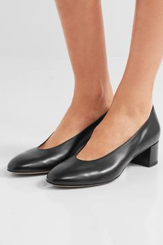 Mansur Gavriel - Ballerina Leather Pumps - Black - IT39