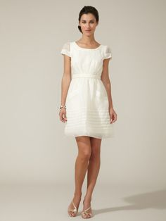 Woven Organza Bow Front Dress by BHLDN - such fantastic details for only $149!