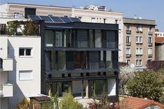 Lucido® très chic à Paris - ein PlusEnergie-Haus in Holz mitten in Paris. Solar, Multi Story Building, Image, Chic, House, Simple, Shabby Chic, Elegant, Sun