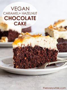 Caramel Mousse, Chocolate Caramel Cake, Best Vegan Chocolate, White Chocolate Cake, Gluten Free Chocolate Cake, Vegan Caramel, Chocolate Roll, Chocolate Hazelnut, Delicious Vegan Recipes