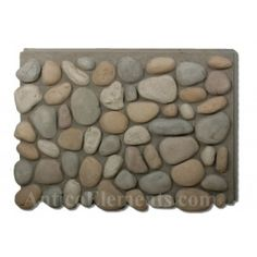 River Rock Outside Corner – Multicolor - All For Garden Faux Rock Panels, Faux Stone Panels, Faux Rock Siding, Stone Siding, River Rock Landscaping, Landscaping With Rocks, Backyard Landscaping, River Rock Crafts, River Rock Fireplaces