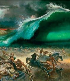 Éxodo 15:4 Echó en el mar los carros de Faraón y su ejército; Y sus capitanes escogidos fueron hundidos en el Mar Rojo.♔