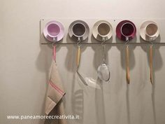 Tea cup hanger. Neat idea. The link to this is not in English and no step by step instruction. I think I can wing it.