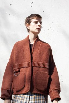 Veronique Leroy Knitted Bolero in Cognac Blush | Oroboro Store | Brooklyn, New York