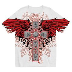 Cross and Wings Kids Sublimation TShirt