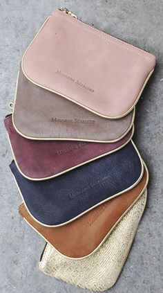 Handtaschen Damen Leder - awesome colors here too. my fav is the greyish tan. a tasteful combo of a couple. My Bags, Purses And Bags, Coin Purses, Leather Accessories, Fashion Accessories, Mode Style, Beautiful Bags, Purse Wallet, Clutch Bags