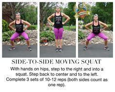 Try this side-to-side moving squat! revelationwellness.org