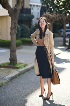 49 Overawe Office Outfits to Give You Confidence in Perfect Look Work Fashion, Modest Fashion, Fashion Outfits, Womens Fashion, Office Fashion, Cheap Fashion, Fashion Trends, Work Wardrobe, Capsule Wardrobe