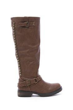 Breckelle Women's Studded Buckle Riding Knee High Boot -- Check out the image by visiting the link.