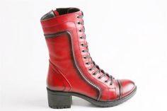 Hammer Jack - Kadın Topuklu Kırmızı Bot
