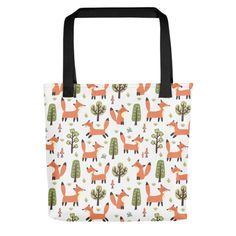 Bring your favorite design everywhere you go. Foxes, Your Favorite, Print Patterns, Reusable Tote Bags, Fabric, Shopping, Tejido, Tela, Cloths