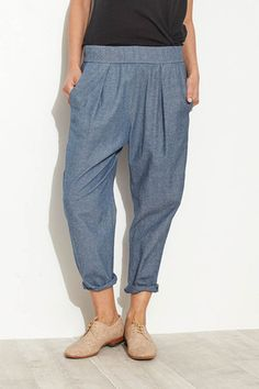 Washed Chambray Easy Pant by Raquel Allegra | shopheist.com