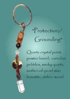 TouchStones Key Ring - Protection, Grounding; Meditation Beads, Prayer Beads $20
