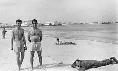 Peter Orlovsky, Jack Kerouac & William Burroughs by Allen Ginsberg, 1957 in Tangier    Happy. Just in my swim shorts, barefooted, wild-haired, in the red fire dark, singing, swigging wine, spitting, jumping, running -- that's the way to live. All alone and free in the soft sands of the beach.... Jack Kerouac,The Dharma Bums  #jackkerouac #allenginsberg #williamsburroughs #nealcassady #beatgeneration #beat #beats #ontheroad #lonesometraveller #howl #nakedlunch #bigsur #bobdylan #beatnik…