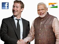 """#Facebook will help #CleanIndia"" The founder and CEO Of #Facebook Mr. Mark Zuckerberg is on two day visit to Delhi, met Prime Minister Narendra Modi as Facebook will help the government develop a 'Clean India' mobile application."