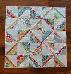 scrappy square quilt - A great way to use my scraps!