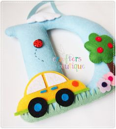 Crafters Boutique: Car and Firetruck Themes on Big Monograms