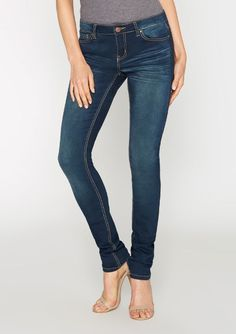Tall Dark Blue Jeans for women. Low Rise Skinny jeans with a long inseam. Jeans For Tall Women, Tall Jeans, Pants For Women, Dark Blue Jeans, Black Denim, Low Rise Skinny Jeans, Destroyed Jeans, My Style, London