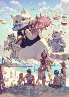 Los gigantescos y simpáticos gatos de Yuno # Los gatos son protagonistas de todo tipo de historias, cuentos y esos GIFs animados que nos suelen dibujar una sonrisa o una gran carcajada con algunos de sus dispares comportamientos. Son unos animales muy suyos …