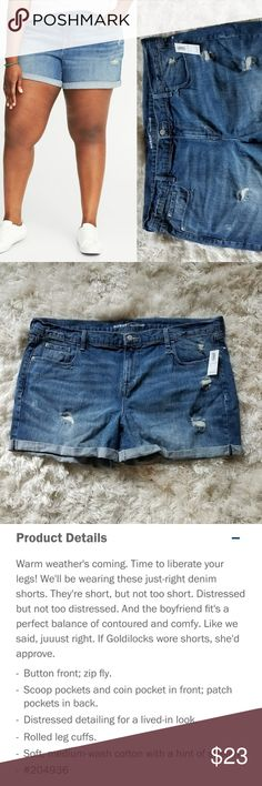 20 Old Navy Boyfriend Destructed Jean Shorts NWT These 20 Old Navy Boyfriend Destructed Jean Shorts are NEW with Tag. Cuffed. 99% cotton. Model pics and product info from OldNavy.com. ::: Bundle and save! ::: No trades. Old Navy Shorts Jean Shorts