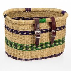#Asungtaba bike basket from #HouseofTalents. Handwoven by a community of basketweavers, supporting traditional craft.