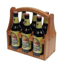 Beer CarrierHardwood Beer Caddy by FunMadeProducts on Etsy