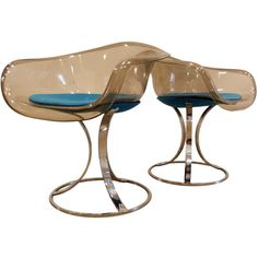 Pair of Mod Lucite and Chrome Chairs | From a unique collection of antique and modern armchairs at http://www.1stdibs.com/furniture/seating/armchairs/