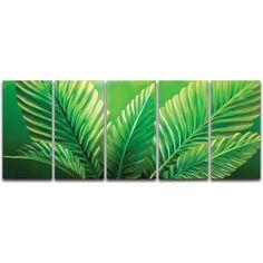 Palms 5 Piece Metal Graphic Art Set