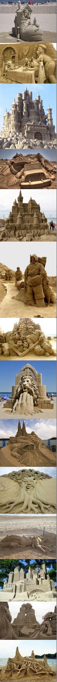 Sandcastle Art  http://www.pinterestpatron.com/2012/08/sandcastle-art/