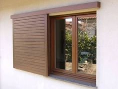 scuri scorrevoli sliding shutter system want to do something like this for the inside window covering in the bathroom House Shutters, Window Shutters, House Doors, Outdoor Shutters, Main Entrance Door Design, Window Canopy, Double Barn Doors, Sliding Windows, Exterior Remodel