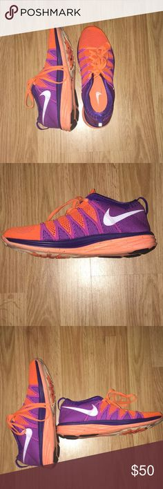 Nike Running Shoes Nike Flyknit Lunar2 Women's Running Shoes in Atomic Orange/Bright Magenta Nike Shoes Athletic Shoes