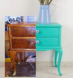 Antic&Chic. Decoración Vintage y Eco Chic: [DIY] Una mesita de noche que brilla con luz propia...
