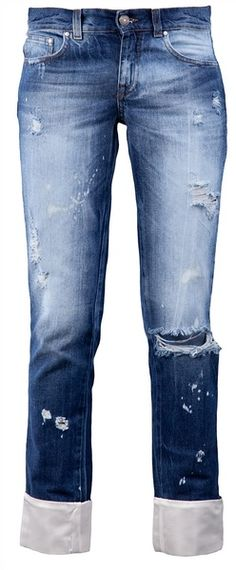 I love faded blue jeans, especially ones with holes. (not the ones you buy with holes the ones that get holes in them because they're well worn)
