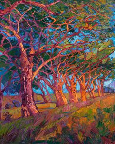 Wine Country Painting - Scarlet Light by Erin Hanson