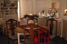 Fox Hollow Cottage Cozy Christmas Nighttime Home Tour | Vintage, Plaid and Traditional Holiday Decor