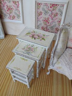 Hydrangea 3Tier table set by MaritzaMiniatures on Etsy