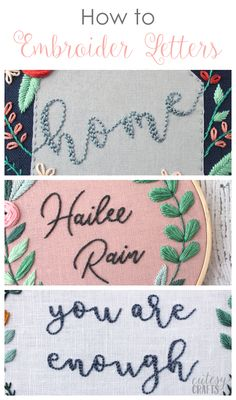 How to Embroider Let