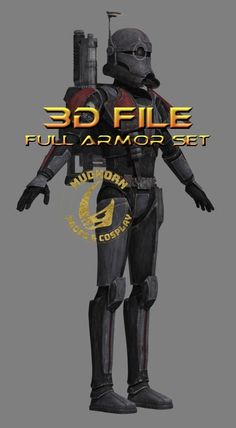 Cosplay Armor - Crosshair Armor - Bad Batch - 3d Print File - Star Wars Clone Wars 3d Character, Character Concept, Battle Droid, Cosplay Armor, Found Object Art, Sci Fi Characters, Science Fiction Art, Star Wars Clone Wars, Clone Trooper