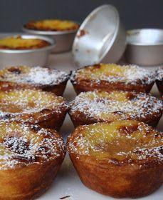 Pasteis de Nata. Tartelettes au flan citronné portugaises traditionnelles de Noël + vidéo