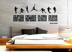 Amazon.com: Michael Jordan Quote Wall Decals   Basketball Wall Decals By  CraftyDecoArtz: