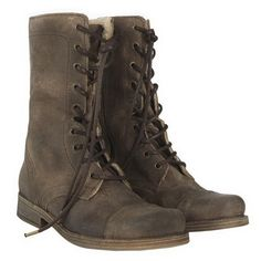 Military Boots For Women - Shoes And Fashion - Zimbio ❤ liked on Polyvore featuring shoes, boots, combat boots and sapatos