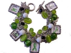 LYMPHOMA AWARENESS Themed Altered Art Charm by MoonstruckBoutique, $30.00