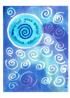 "5x7 Art Print -- ""What Goes Around Comes Around"" by Affirmtoo on Etsy"