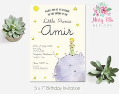 The Little Prince / Le Petit Prince Birthday Party Invitation // Printable Invitation // Baby Shower // Baptism // Digital File by MissyEllaDesigns on Etsy Prince Party Theme, Little Prince Party, Prince Birthday Party, The Little Prince, First Birthday Parties, First Birthdays, Birthday Celebration, Birthday Ideas, Printable Invitations