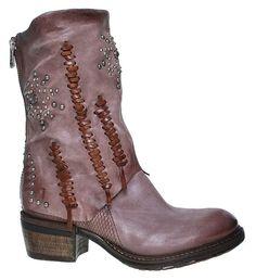 AS98 | Airstep | Corn | Stiefelette - rose | grunge   aufsehenerregende Stiefelette von AS98 im außergewöhnlichen rose-braun Erdton  #boots #boho #gypsy #bohochic #fashioin #trend #style