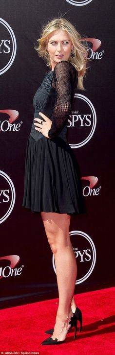 Maria Sharapova attends the 2014 ESPY Awards in Los Angeles, California...